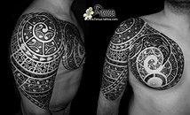 Galeries Photos Tatouages Polynesien Bras Epaule