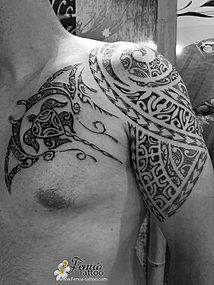 Galeries Photos Tatouages Polynesien Bras Epaule