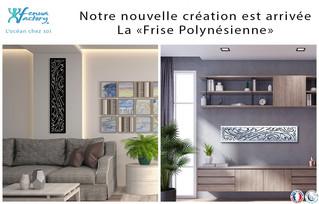 Notre nouvelle création murale en métal est arrivée, la frise polynésienne