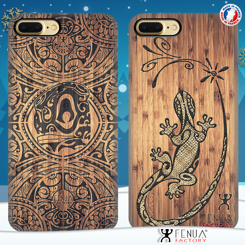 Coque de smartphone apple iphone 7+ tatouage polynésien bamboo