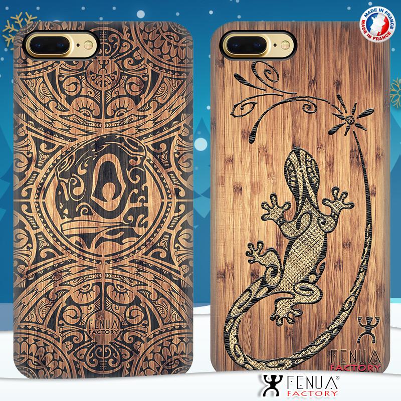 Coque de smartphone apple iphone 7+ tatouage polynésien bamboo