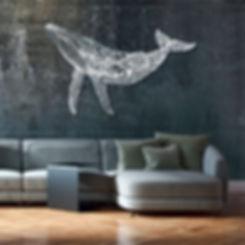 création_murale_en_métal_inox_de_baleine