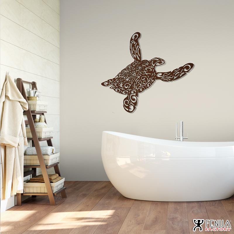 sculpture_design_Tatouage_tortue_polynésien_tribal_avec_tiki_en_acier_salle_de_bain_by_pierre_martinez