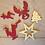 Thumbnail: Suspension de Noël rouge et or