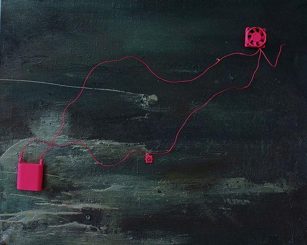 """""""Seascape"""" 50x70cm, mixed media on canvas"""