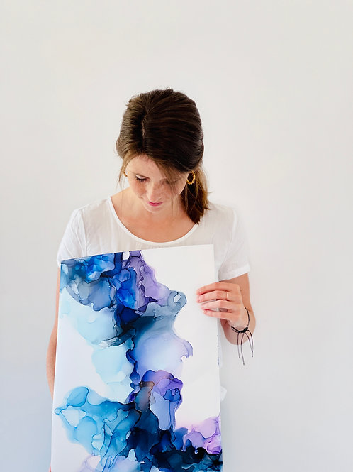 Farbenspiel aus Blau und Violett