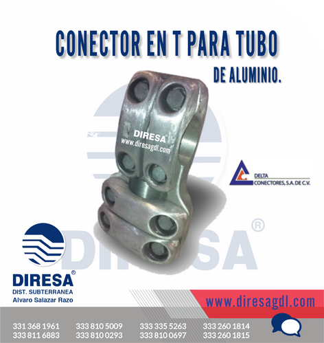 Conector en T para Tubo de Aluminio