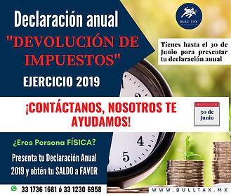 Declaracion Anual 2020 - Bull Tax Contad
