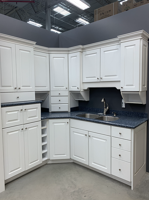 Cabinet Set - white with corian tops, 12pcs