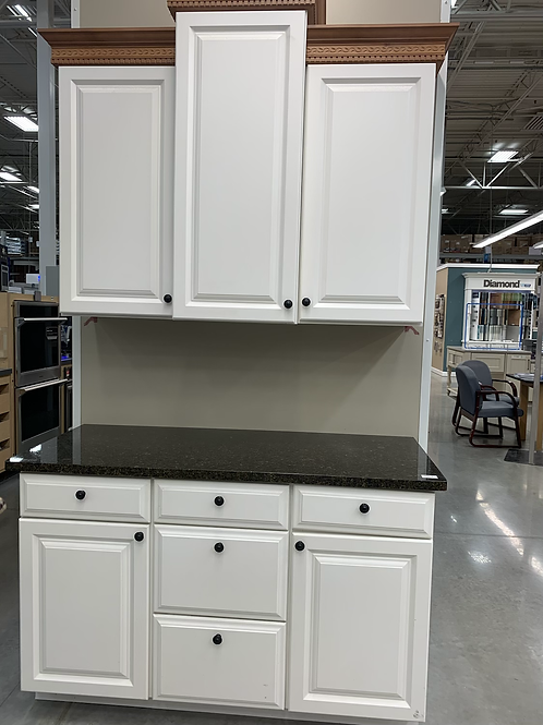 Cabinet Set - white with granite tops, 6pcs