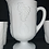 "Thumbnail: Westmoreland Milk Glass ""Harvest Grape"" Pitcher and Tumbler Set"