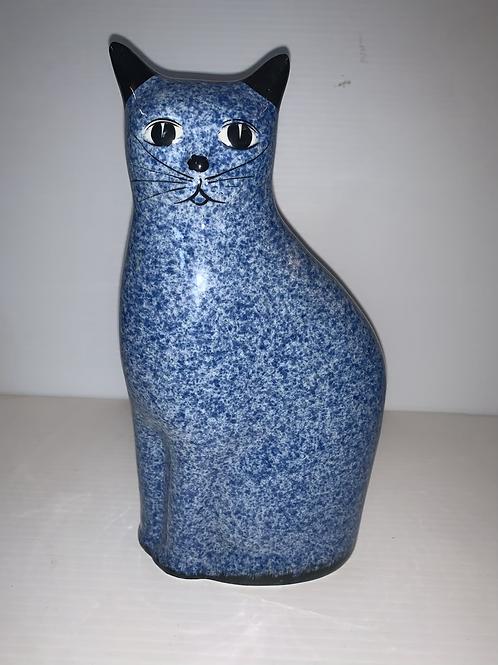 Blue Glass Cat Figurine