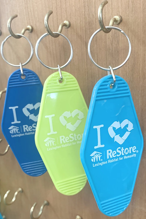 I Love ReStore Keychain