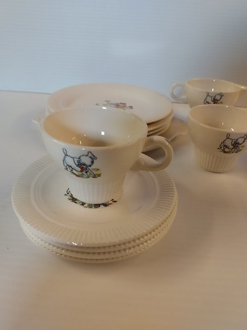 Vintage Victory 'by' Salem China Mary Had a Little Lamb 15Pc Tea Set