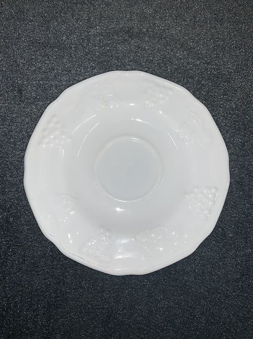 "Westmoreland Milk Glass ""Harvest Grape"" Saucer Plate"