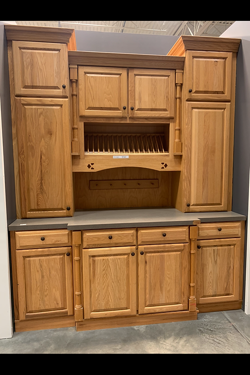 Cabinet Set - light brown with laminate tops, 8pcs