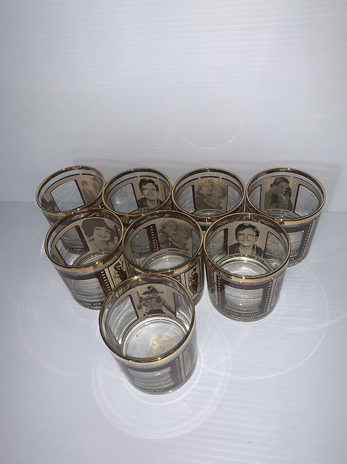 Roaring 20s Glasses (set of 8 with one duplicate)