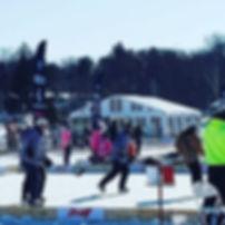 Ice tent for barstool sports pond hockey