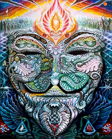 """Guy Fawkes"" the Joker by Alex Grey"