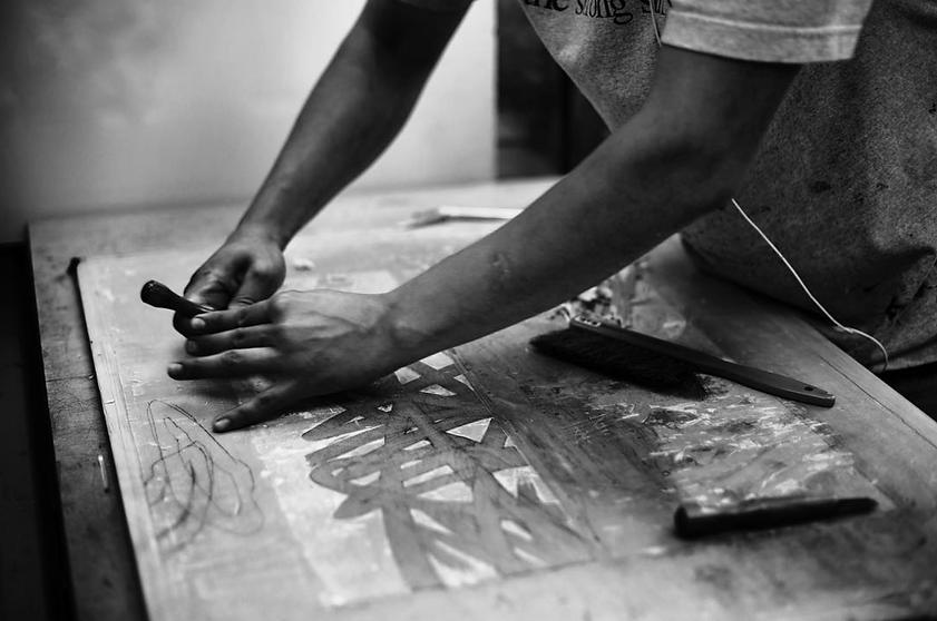 wood block printmaking