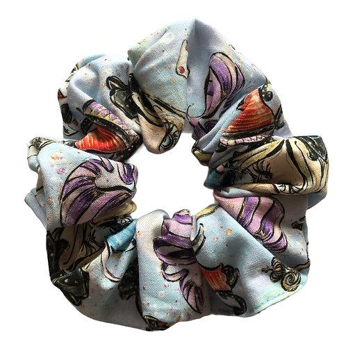 Blå Alice scrunchie