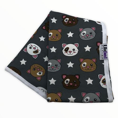 Grå katter - filt