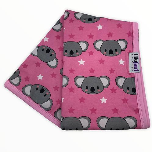 Rosa koala - filt