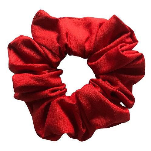 Röd scrunchie