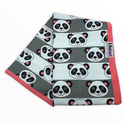 Grå randig panda - filt