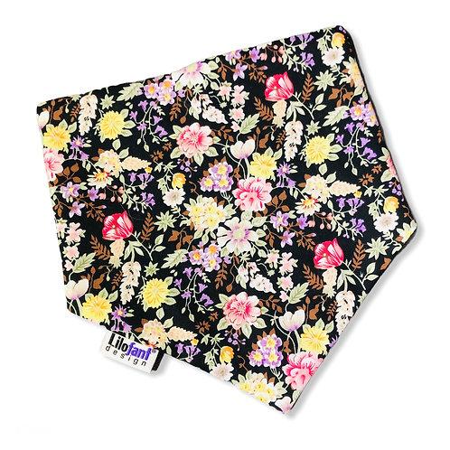 Svarta blommor bandana