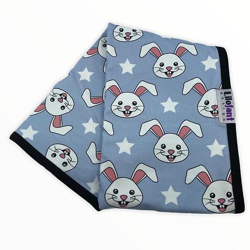 Ljusblå kaniner - filt