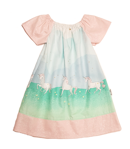 Unicorn Parade Peasant Dress