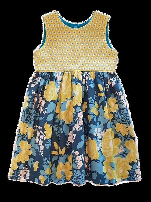 Dk Teal Floral Pixie Dress