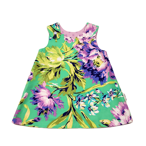 Green Floral Reversible Dress