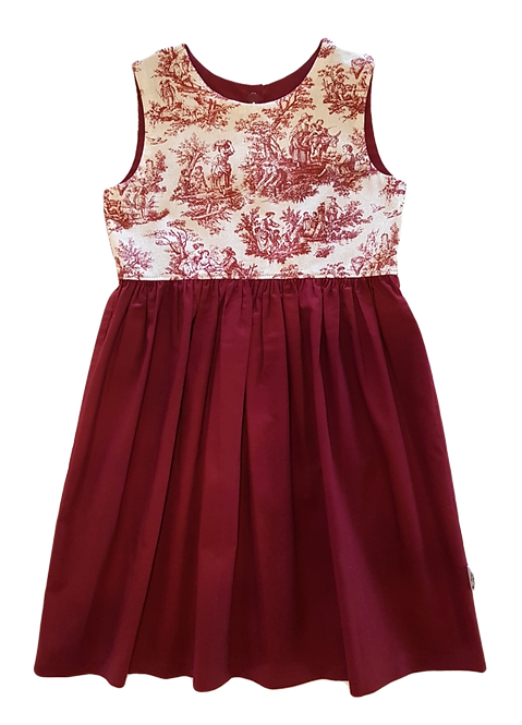 Red Toile Pixie Dress