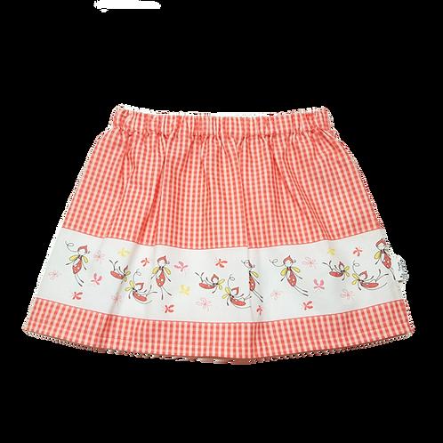 Gingham Border Skirt