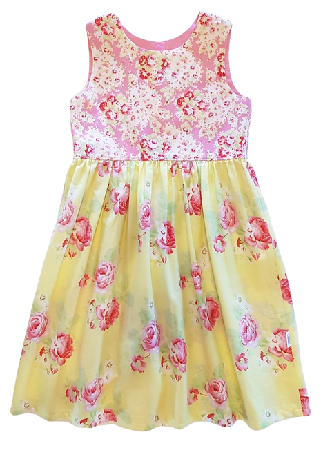 Yellow Roses Pixie Dress