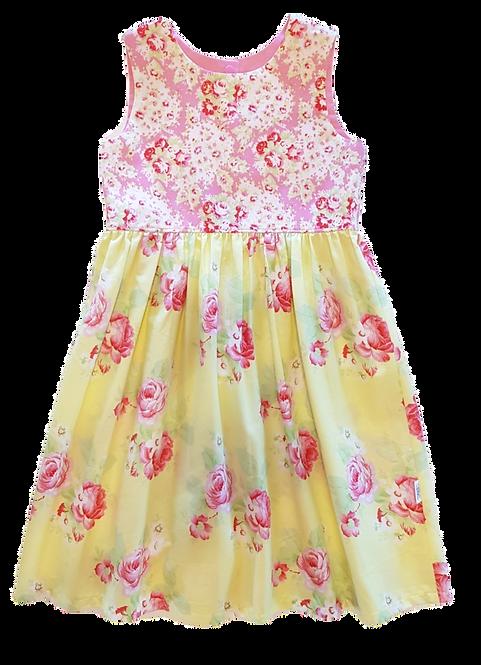 Yellow Roses Pixie Dress
