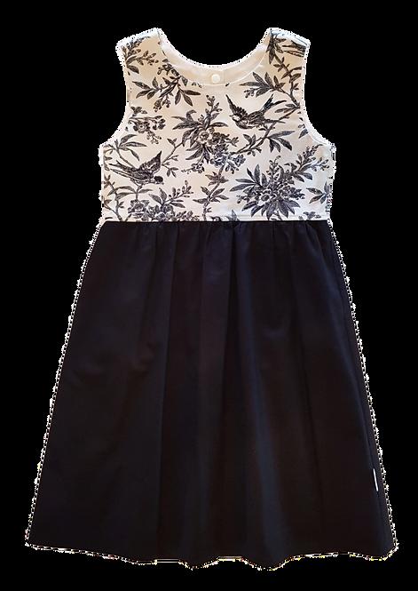 Black Toile Pixie Dress