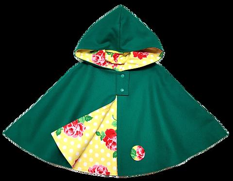 Green Polka Roses Cape