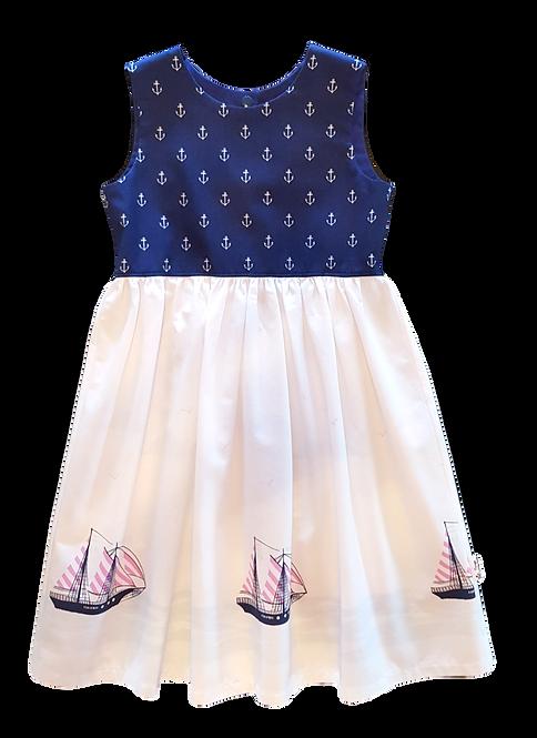 Navy Sailing Ships Pixie Dress