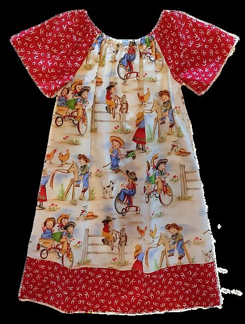 Cowgirls Peasant Dress
