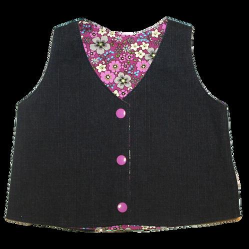 Purple Flowers Waistcoat