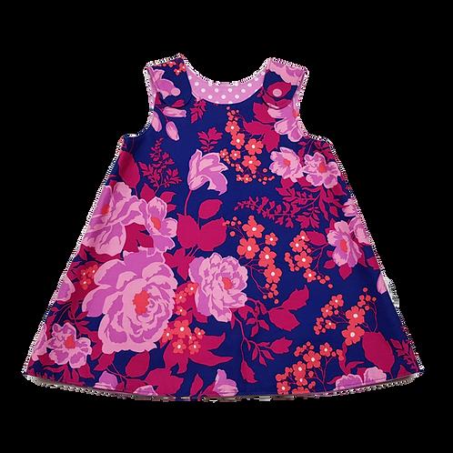 Magenta Floral Reversible Dress