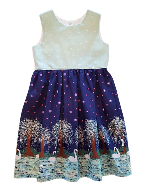 Night Swans Pixie Dress