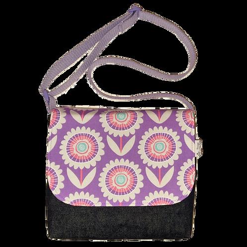 Messenger bag - Lavender flowers