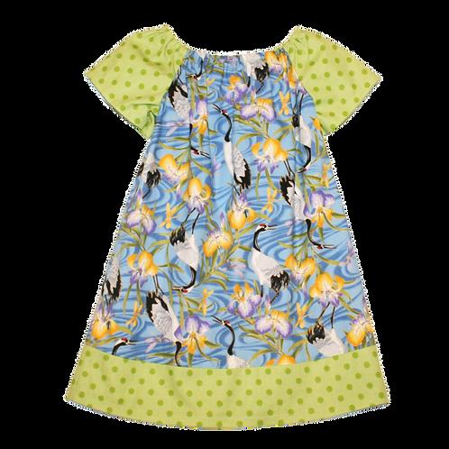 Cranes Peasant Dress