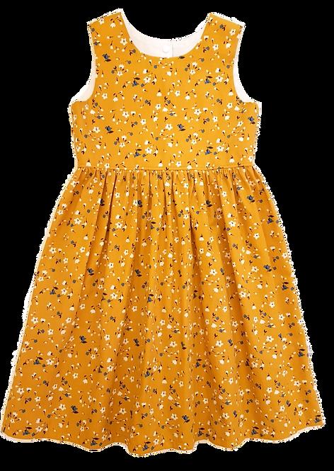 Mustard Floral Pixie Dress
