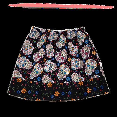 Black Sugar Skulls Skirt