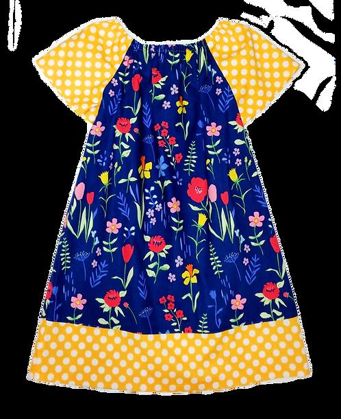 Spring Meadow Peasant Dress